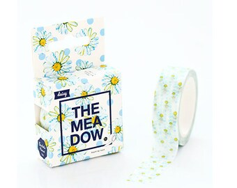 Washi tape in the meadow blue daisies