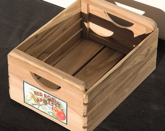 Miniature Apple wood crate
