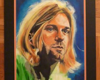ART SALE: Kurt Cobain Acrylic Painting
