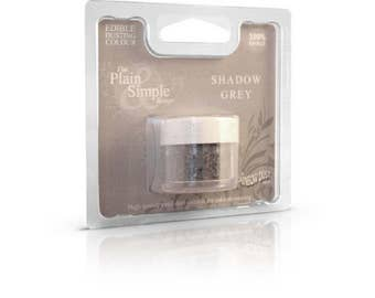 "Powdered food coloring ""Plain & Simple"" gray shadow dark Rainbow Dust"