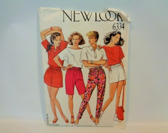 UNCUT #6334 EASY New Look Pull-On Pants Pattern Six Sizes 8-10-12-14-16-18