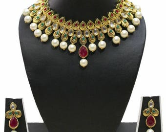 Kundan Traditional Earring Drop Jewellery Set