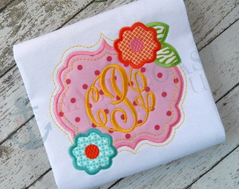 FLOWER FRAME machine embroidery design