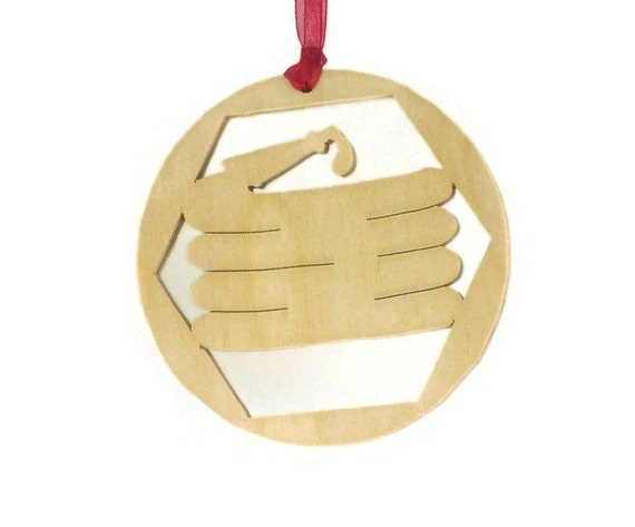 Fireman Fire Hose Christmas Ornament Handmade From Birch Plywood, Christmas Decoration