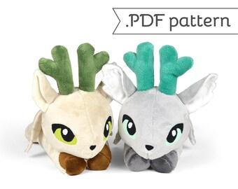 Peryton Winged Deer Stag Bird Animal Plush Sewing Pattern .pdf Tutorial