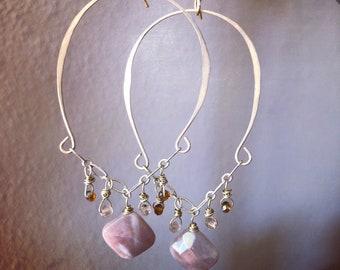 Sandstone gold filled earrings