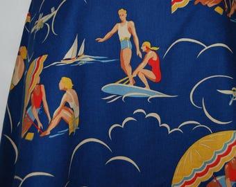 Novelty womens skirt Ralph Lauren skirt Resort wear Wildwood Camp Gatsby summer skirt swing skirt womens skirts size 14