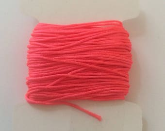 10 meters of nylon string 0.80 mm neon pink for creations of jewels