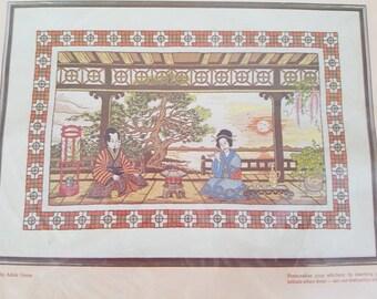 Paragon Vintage Stitchery Kit splendeur orientale NOS tapisserie non ouvert