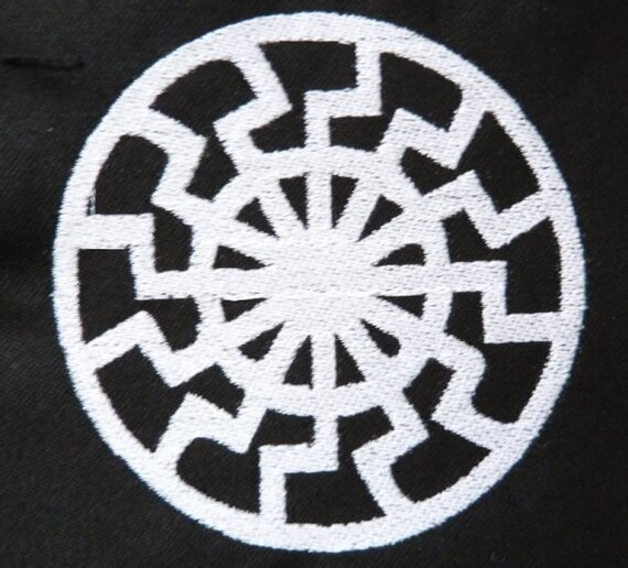 Black Sun (sonnenrad, schwarze sonne) embroidered work shirt - Dickies