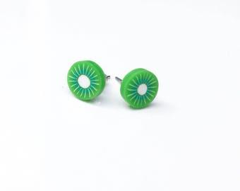 Polymer clay fruit earrings