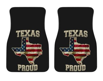 Texas/Proud/American Flag/Car/Truck/SUV/Auto/RV/Floors Mats/Gifts/State Flag/Art/Home