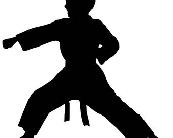 Karate Boy Window Decal