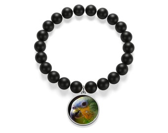 Parrot Matte Onyx Bracelet Gifts For Girls Gifts For Boys Gifts For Her Gifts For Him