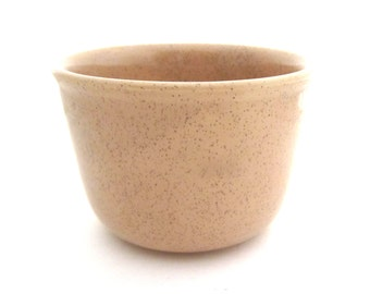 Speckled Bauer #36 Small Mixing Bowl AL FRESCO 1950s Desert Beige / Coffee Brown