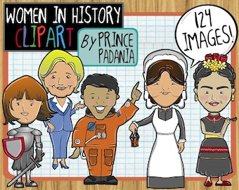 Women's History Month / Women in Current Events Clip Art