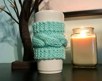 Cable Knit Coffee Mug Cozy