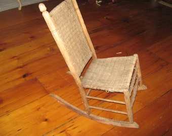 Old Antique Child's Rocking Chair