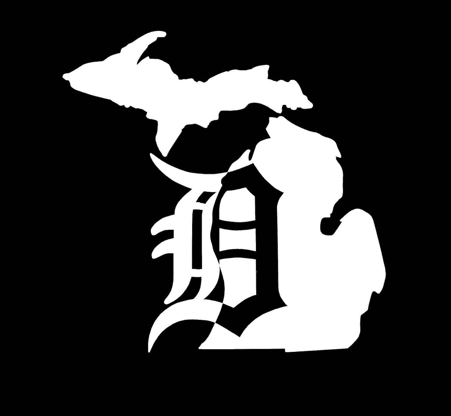 Detroit D Michigan Vinyl Car Window Decal Sticker