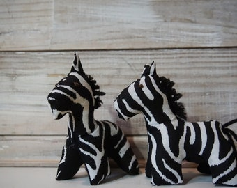 Mini Zebra Plush