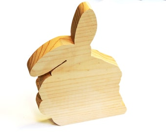 Unfinished Wood Rabbit, Wooden Floppy Eared Bunny Shape Cutout to Tole Paint, Stencil, Pine Wood Craft Supply, Easter Project itsyourcountry