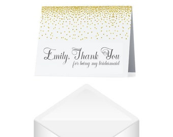 Bridesmaid Thank You Card- Personalized Thank You Bridesmaid Card- Thank You Wedding Cards- Thank You For Standing By My Side- Wedding Card