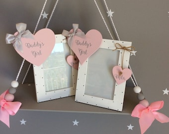 Daddy and me, Gift for Daddy, Daddy girl gift, Gift for Daddy girl, Picture frame, Father's Day gift, Personalised frame, Custom frame