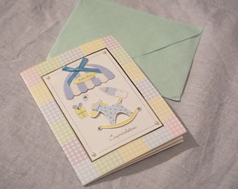 Congratulation card for new baby with envelope