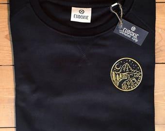Sweat-shirt CAMP / Noir / Coton Bio / EUDOXIE Women's Motorcycle Gear