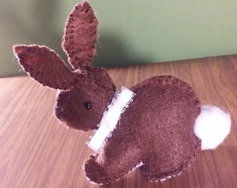 Cute Brown Felt Bunny