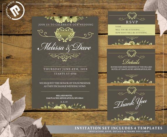 Editable wedding letterhead wedding invitation card stopboris Image collections