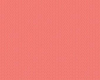 SUMMER SALE - Circle Dot Basics - 1 yard - C445-Coral - Riley Blake Designs