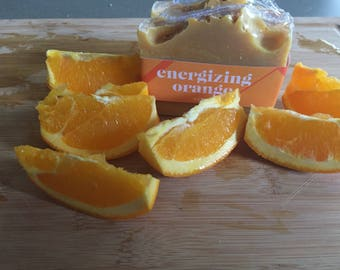 Artisan Soap/ Cold Process/ Energizing Orange