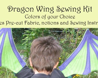 Sew Your Own Dragon Wings - Colors of your Choice Sewing Kit