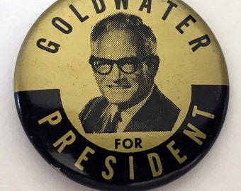 1964 Goldwater for President, Presidential Campaign Pinback Button