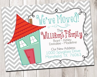 We Moved Cards - address notification digital card