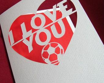 Heart Papercut Anniversary Wedding Card Hand Cut