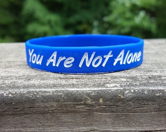 You Are Not Alone Wristband's -  Balthazar Blue