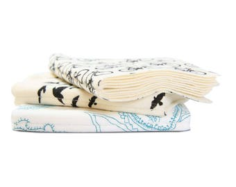 NEW! Organic Handkerchief Shaped Like a Book - Soft, Eco-Friendly, and Versatile - Reusable, Multi-Use and Wholly Original