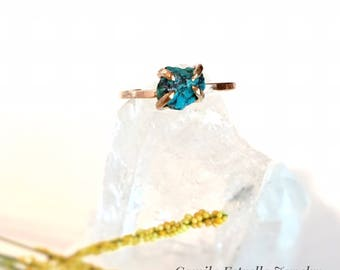 Turquoise Ring, Turquoise Engagement Ring, Promise Ring, Gold Turquoise Ring, Turquoise Gold Ring, Raw Turquoise, Engagement Ring