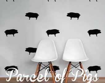 Pigs Wall Decal Pack, Animals Vinyl Wall Sticker Decal Art Pattern WAL-2209