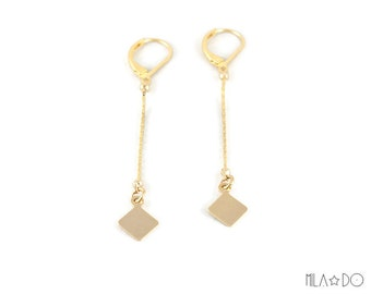 Nina earrings in gold || Delicate Gold earrings - Dainty earrings