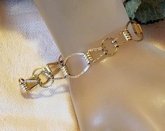 Provident Stock Co. 12k Gold Filled Link Bracelet | Vintage Art Deco 1930's | PR ST CO | Excellent Condition