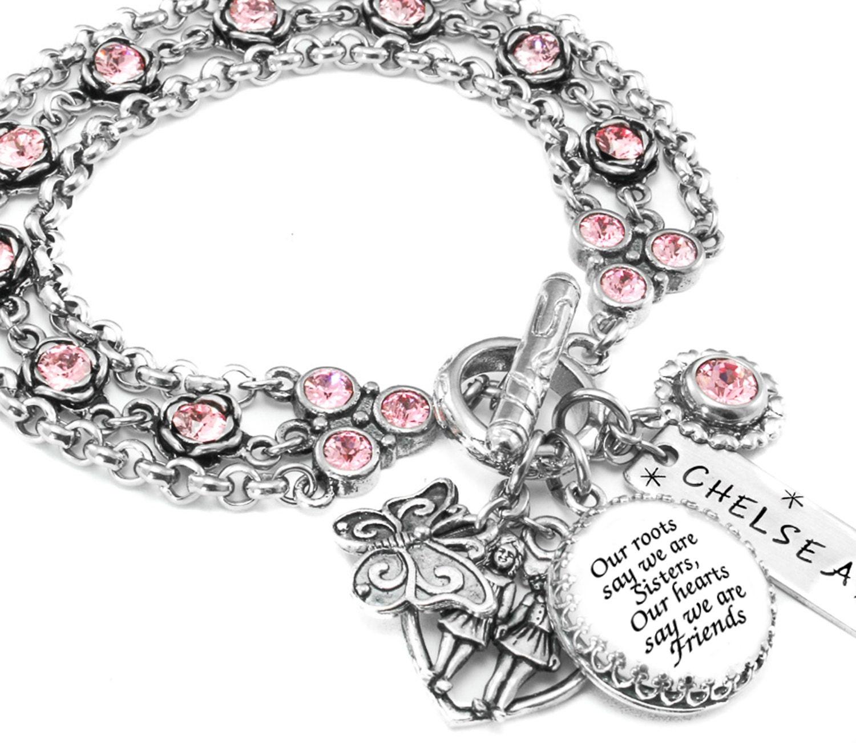 Birthstone Sister Jewelry Sister Charm Bracelet