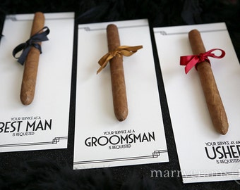 Asking groomsmen etsy groomsman card cigar card will you be my groomsman your service is requested as junglespirit Gallery