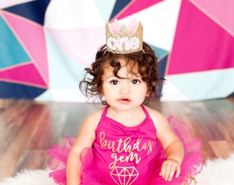 Cake Smash Outfit First Birthday Crown | 1st Birthday Girl Outfit Cake Smash | Baby Girl First Birthday Outfit | 1st Birthday Hat | color
