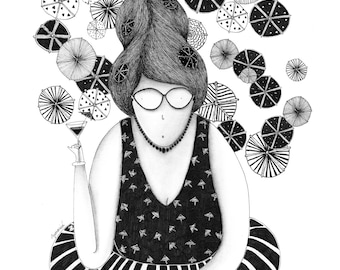 Mrs Paperella A4 signed limited edition print