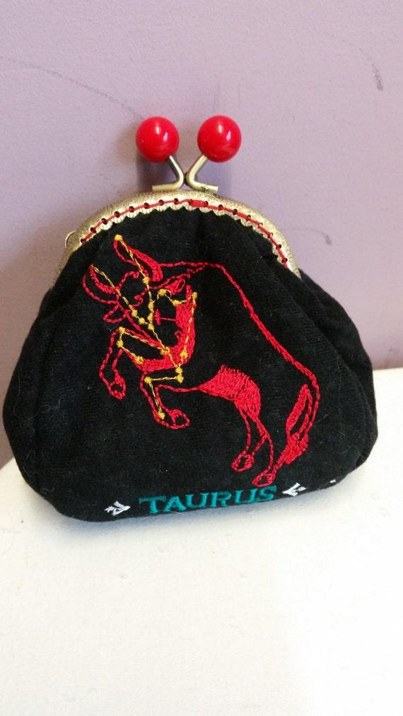 SALE.. SALE.. Star sign coin purse.Taurus   L027
