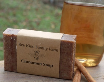 Cinnamon Sprice Soap  cold Process Soap made with Honey and Beeswax