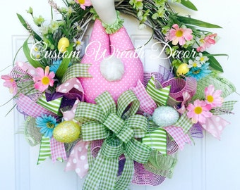 Easter Bunny Wreath, Bunny Butt Wreath, Bunny Bottom Wreath, Easter Grapevine Wreath, Spring Wreath